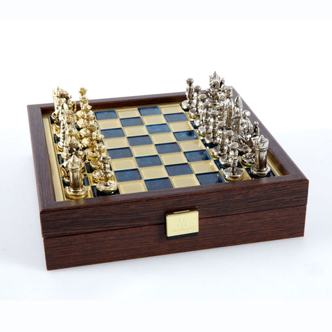 Chess set Byzantine Empire in wooden case with storage 20cm