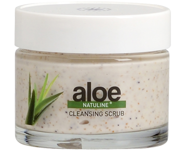 Cleansing scrub with olive seeds and sunflower