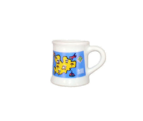 Espresso mug map 7cm white