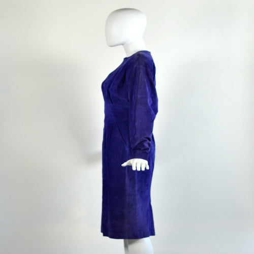 Vintage 80's Suede Purple Dress