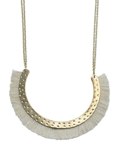 Half Circle Fringe Necklace