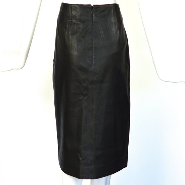 Vintage Black Leather Skirt