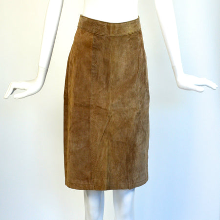 Pre Owned Moto Leather Skirt