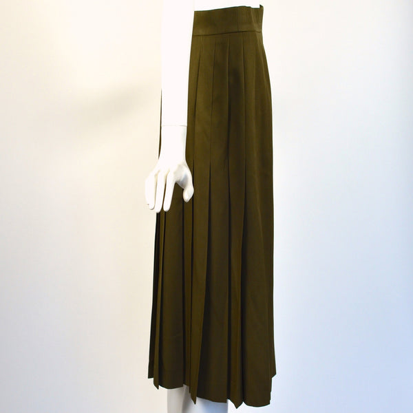 Vintage Military Style Pleated Skirt