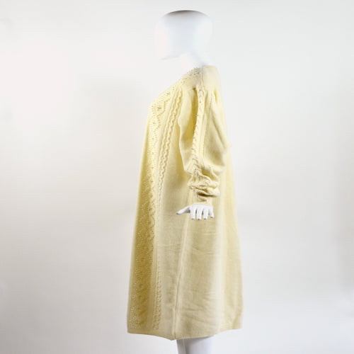 Vintage 80's Cream Beaded Sweater Dress