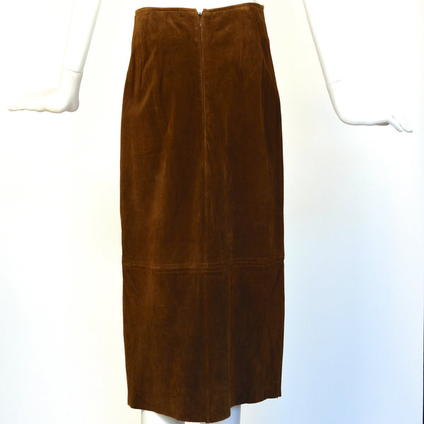 Vintage Brown Suede Skirt