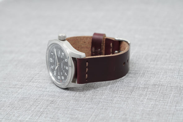 Horween Color 8 Chromexcel | Cocoa Thread - The Potomac Strap