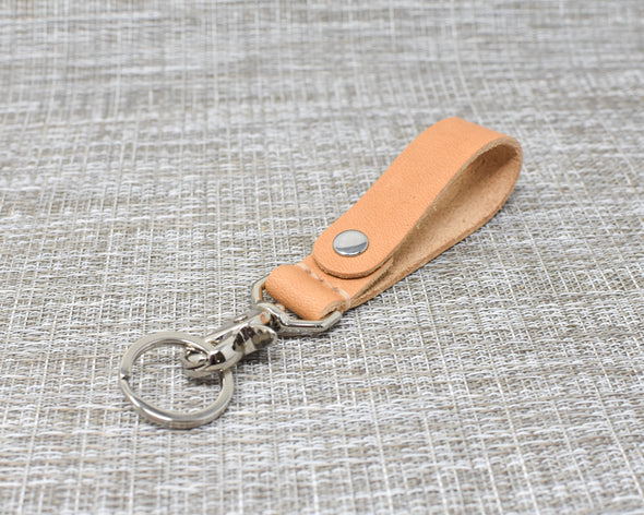 Leather Keychain Fob | Horween Natural Essex