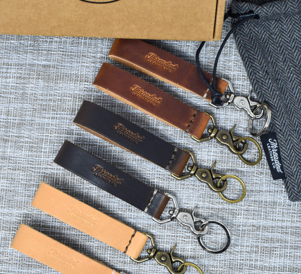 Leather Keychain Fob | Horween English Tan Dublin