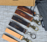 Leather Keychain Fob | Horween Nut Brown Dublin