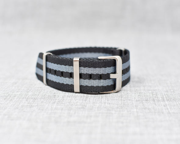 The Henry Premium NATO Style Watch Strap | Gray & Black