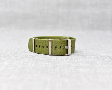 The Henry Premium NATO Style Watch Strap | Olive Green