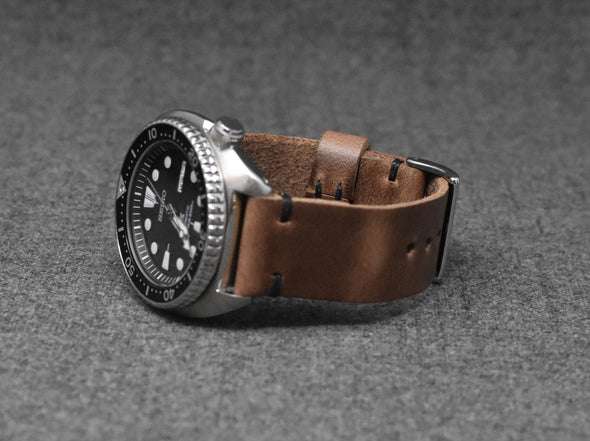 Horween Natural Chromexcel | Black Thread - The Hudson Strap