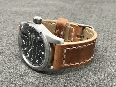 Horween Natural Dublin | Natural Thread - The Charles Premium Strap