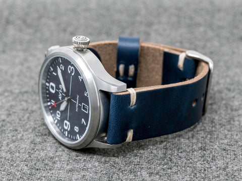 Horween Navy Chromexcel Cordovan | Natural Thread - The Hudson Strap