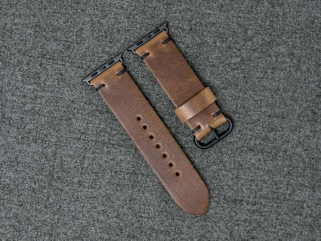 67d2e3c6319 Horween Natural Chromexcel - Apple Watch Band