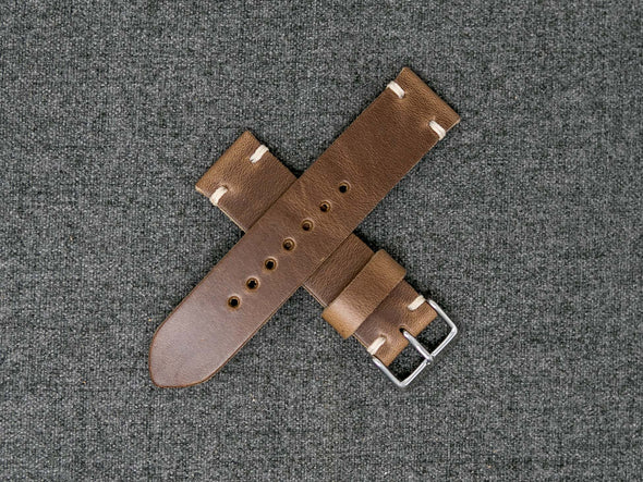 Horween Natural Chromexcel | Natural Thread - The Hudson Strap