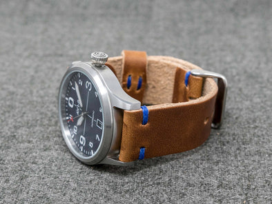 Horween Natural Dublin | Royal Thread - The Hudson Strap