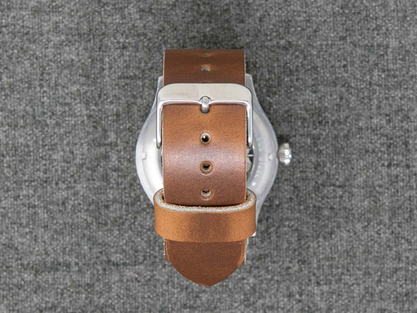 Horween Whiskey Cavalier | Natural Thread - The Hudson Strap