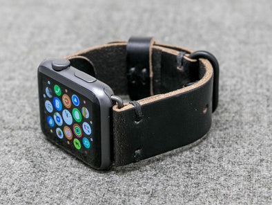 Horween Black Chromexcel | Black Thread - The Hudson Strap for Apple Watch