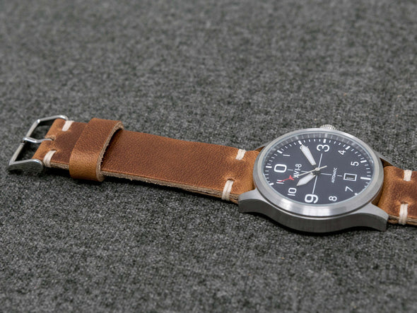 Horween Natural Dublin | Natural Thread - The Hudson Strap