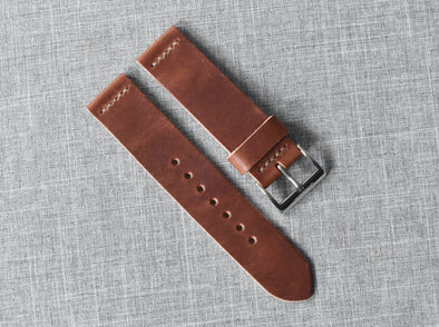 Horween English Tan Dublin | Natural Thread - The Potomac Strap