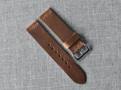 Horween Natural Chromexcel | Cocoa Thread - The Potomac Strap