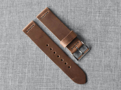 Horween Natural Chromexcel | Black Thread - The Potomac Strap