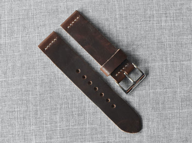 Horween Brown Nut Dublin | Natural Thread - The Potomac Strap