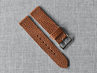 Conceria Walpier Whiskey Dollaro | Cocoa Thread - The Potomac Strap