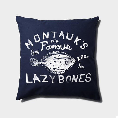 Lazybones Canvas Throw Pillow