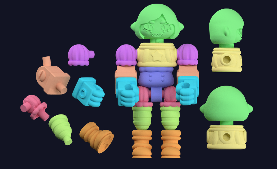 Wonder Witch Glyos Compatible 3D Printed ABS figure
