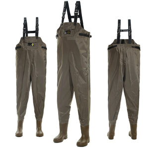 Breathable Chest Waders 210D Nylon Boot Foot Waders Fishing 41-46# 250N