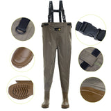 41-46# Waist High Waders 210D Nylon Stocking Foot Fishing Waders 230N