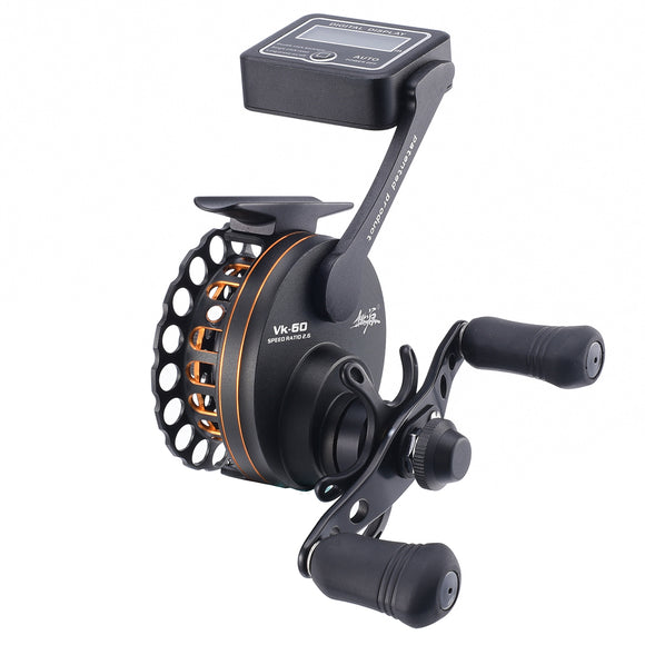 65mm 6BB 2.6:1 Full Metal Raft Fishing Reel Left/Right Hand with LCD Digital Display Line Counter