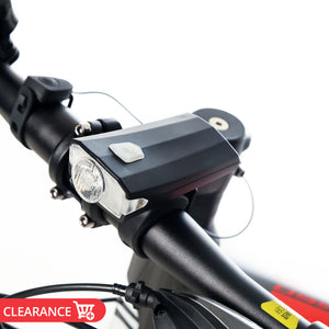 400Lm 1200mAh USB Rechargeable Bike Front Lamp Waterproof Bicycle Headlight w/ Horn 100DB 4Models