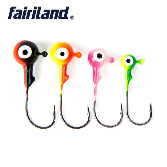 10pcs Jig Head Fishing Hook High Carbon Steel 3.5/7/10.5/14g Multicolour Lead Baits Hard Lures