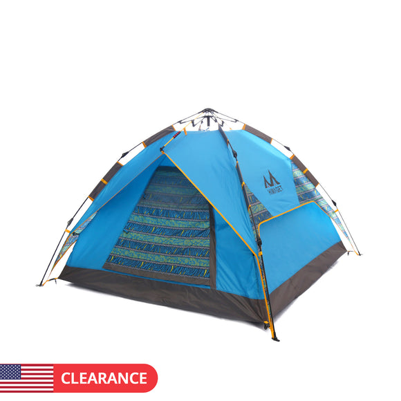 3-person Outdoor Instant Setup Tent Automatic Pop up Camping Tent UV Beach Sunshade Awning Tarp-USA