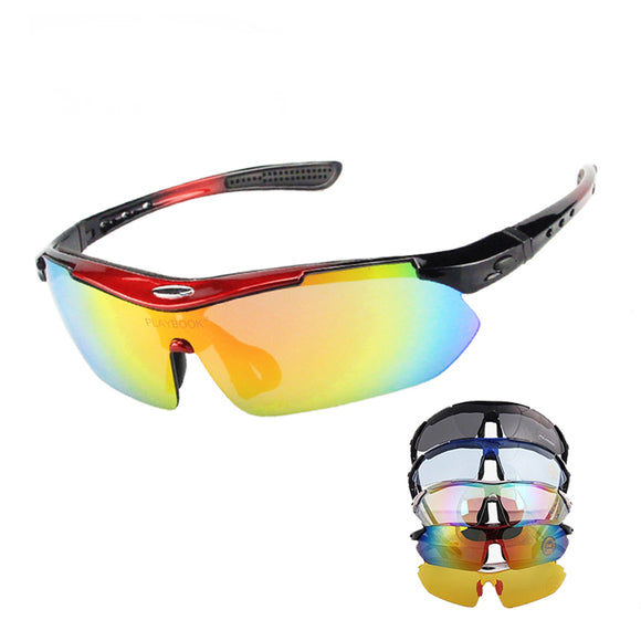 New 5 Lens Polarized Fishing Sun Glasses Outdoor Sports Cycling Glasses