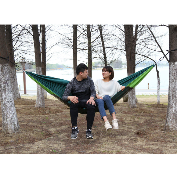 1-2 Person Camping Mosquito Net Parachute Hammock Hanging Sleeping Bed