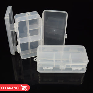 5.5x3x2in Double Side Waterproof Fishing Tackle Box Fishing Lure Bait Hook Storage Case with 6 Slots