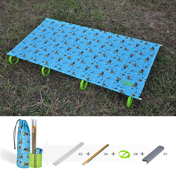 80kg Bearing Weight Kids Portable Folding Camping Bed Cot Sleeping Outdoor Mat Oxford Cloth