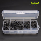 250pcs Barbed Fishing Hook Carp Hook High Carbon Steel Fishhook TESH-G