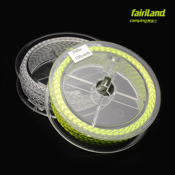 2pcs/Lot 20LB 100Yards Fly Fishing Backing Line Double Colors Polyester 4 Braided Fishing Wire