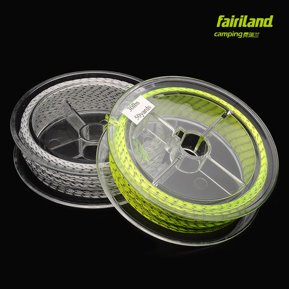 2pcs/Lot 30LB 50Yards Fly Fishing Backing Line Polyester Braided 4 Strands Ice Fly Fishing Accessory