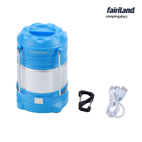 185Lm Multifunction LED Retractable Outdoor Camping Lamp Portable Handle Lantern Emergency Light