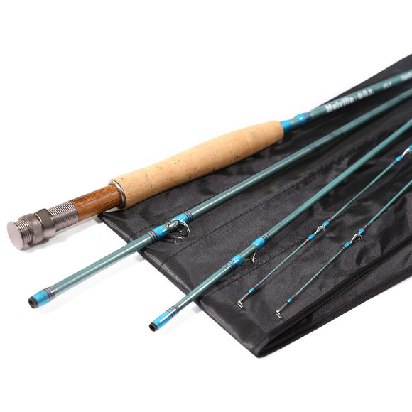 3/4 9ft Carbon Fly Fishing Rod Portable Fly Rod w/ Extra Tip - USA