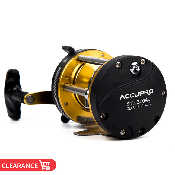 5BB 3.8:1 RIGHT Hand Drum Trolling Boat Fishing Reel Baitcasting Roller Round Saltwater Fishing Reel