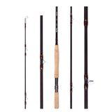 Fairiland 021C9-10# 4.2m 4 Sec Fly Fishing Rod/Pole IM8 Carbon Fiber Metal Real Seat Cork Handle