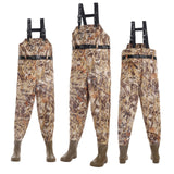 USA Warehouse Adult Camouflage Chest High Wader 70D Nylon Breathable Fishing Wading Boots Pants 43-46#